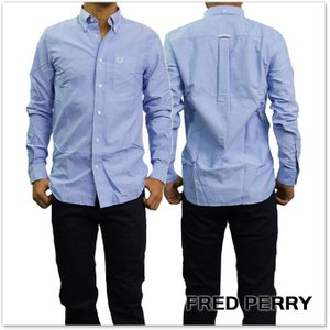 FRED PERRY フレッドペリー メンズシャツ M9546 / CLASSIC OXFORD SHIRT ブルー|tre-style