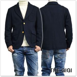 THE GIGI ザ ジジ メンズショールカラーシングル2Bジャケット HEROES G084 ネイビー|tre-style