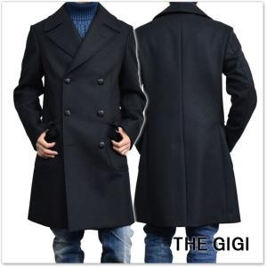 THE GIGI ザ ジジ メンズダブルメルトンコート IAGO G047 ネイビー|tre-style
