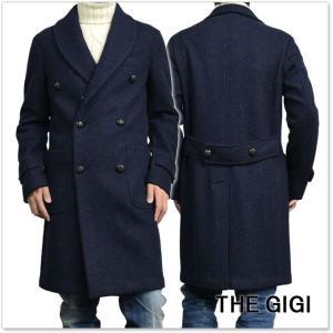 THE GIGI ザ ジジ メンズダブルチェスターフィールドコート ALCOR G438 ネイビー|tre-style