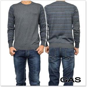 GAS JEANS ガスジーンズ メンズクルーネックセーター MARLON/S / 561804 431564 グレー
