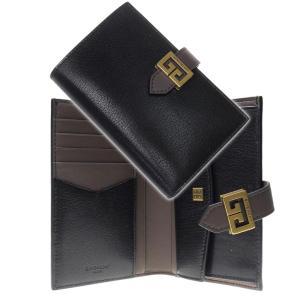 GIVENCHY ジバンシー レディース二つ折り財布 BB601GB056 ブラック×グレー /20...