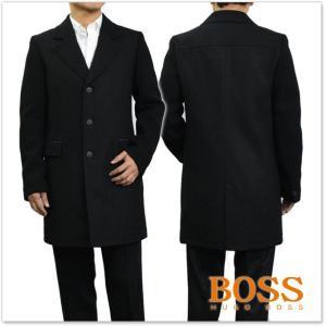 BOSS ORANGE ヒューゴボス ボスオレンジ メンズチェスターコート BALLEY1 / 50371953 10199794 ブラック|tre-style