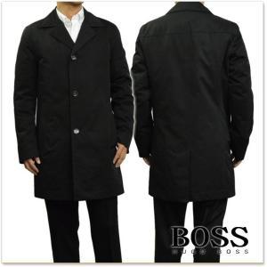 BOSS BLACK ヒューゴボス ボスブラック メンズチェスターコート DAIS13 / 50373260 10200446 ブラック|tre-style