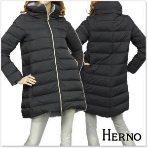 HERNO ヘルノ レディースダウンコート PI0545D 19288 ブラック×グレー|tre-style