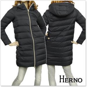 HERNO ヘルノ レディースダウンコート PI0531D 19288 ブラック×グレー|tre-style
