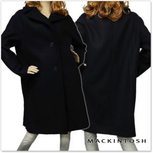 MACKINTOSH マッキントッシュ レディースウールコート LM-010F 3G02 ネイビー|tre-style