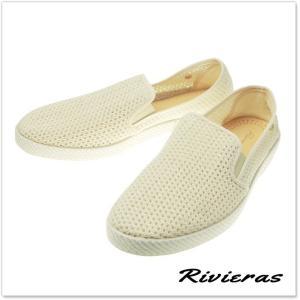 RIVIERAS リビエラ メンズキャンバス&メッシュスリッポン  CLASSIC 30°/ 3202 ベージュ tre-style