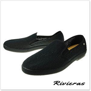 RIVIERAS リビエラ メンズキャンバス&メッシュスリッポン  CLASSIC 30°/ 3201 ブラック tre-style