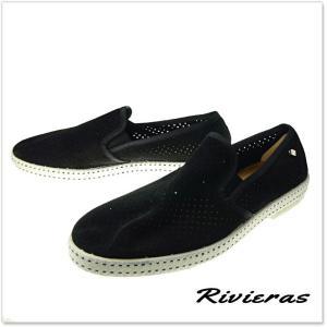 RIVIERAS リビエラ メッシュスリッポン SUNTAN CLASSIC30°/ 3061 ブラック tre-style