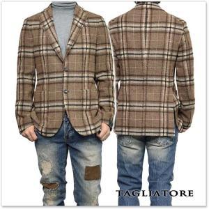 TAGLIATORE タリアトーレ メンズシングル2Bジャケット MONTECARLO / 1SMC22K 34QIK153 ブラウン×ベージュ|tre-style