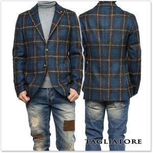 TAGLIATORE タリアトーレ メンズシングル2Bジャケット MONTECARLO / 1SMC22K 77QIG079 ブラウン×ブルー|tre-style