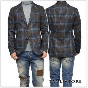 TAGLIATORE タリアトーレ メンズシングル2Bジャケット MONTECARLO / 1SMC22K 07QIK119 ブラウン×ブルー|tre-style