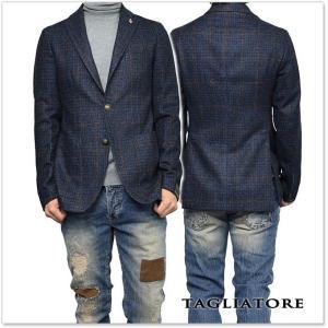 TAGLIATORE タリアトーレ メンズシングル2Bジャケット MONTECARLO / 1SMC22K 07WIK123 ネイビー×ブラウン|tre-style