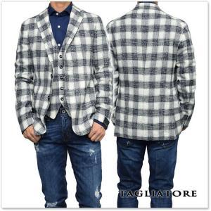 TAGLIATORE タリアトーレ メンズシングル2Bジャケット MONTECARLO / 1SMC22K 77QEG107 ネイビー×ホワイト|tre-style