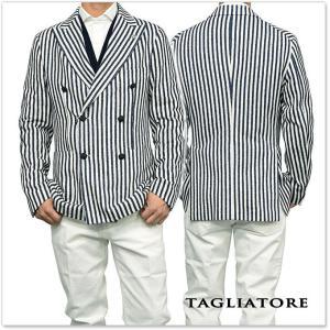TAGLIATORE タリアトーレ メンズダブル6Bジャケット MONTECARLO / 1SMJ20K 57YEJ101 ネイビー×ホワイト|tre-style