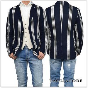 TAGLIATORE タリアトーレ メンズシングル2Bジャケット MONTECARLO / 1SMJ22K 57YEJ095 ネイビー×ホワイト|tre-style