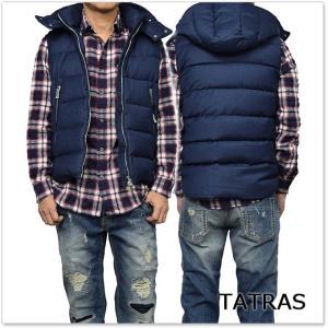TATRAS タトラス メンズダウンベスト LEONARDO / MTA17A4299 ネイビー|tre-style