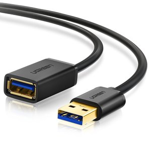 UGREEN USB 延長 1M USB3.0 延長ケーブル 金メッキコネクタ 高速データ転送 aオ...