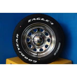 ◆200系ハイエースに◆新品ホワイトレタータイヤ付◆デイトナ16インチ + グッドイヤーナスカー 215/65R16インチ 4本セット NASCAR《246》|tread-tire2011