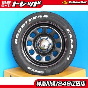 ◆200系ハイエースに◆新品ホワイトレタータイヤ付◆デイトナ17インチ + グッドイヤーナスカー 215/60R17インチ 4本セット NASCAR《246》|tread-tire2011