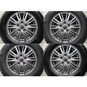 (中古)ハーツ ファング TS10 6J-15 +43 5-114.3 +  ヨコハマ アイスガード iG60 205/65R15(2017年製) 中古4本セット tread-tire2011