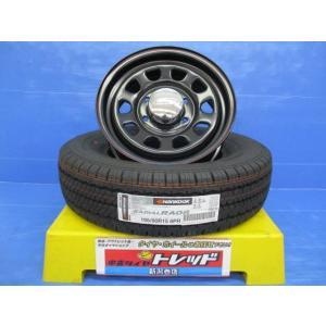 (ハイエース)デイトナ スチールホイール 15x6.5J+40 6H137 + ハンコック RADIAL RA08 195/80R15 4本セット|tread-tire2011