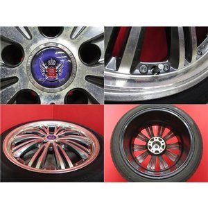 4本 18inch クラウン HS マークX STEINER シュタイナー ブラック ホイール タイヤ セット 225/45R18 送料無料 AWS210 AWS211 GRS200 GRS201 GWS204 AWS215|tread-tire2011|02