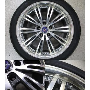 4本 18inch クラウン HS マークX STEINER シュタイナー ブラック ホイール タイヤ セット 225/45R18 送料無料 AWS210 AWS211 GRS200 GRS201 GWS204 AWS215|tread-tire2011|06