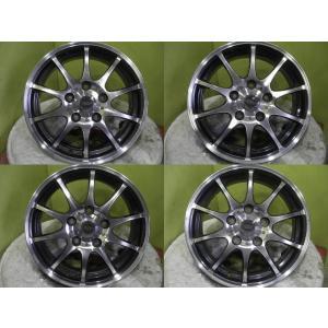 中古 ホットスタッフ クロススピード プレミアム10 15インチ6J+53&新品 夏 サマータイヤ ブリヂストン エコピア EX20 RV 195/65R15 91H 4本セット|tread-tire2011