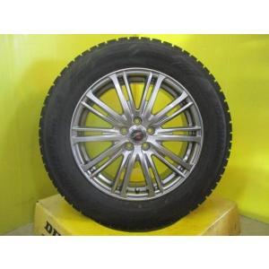 4本 美品 ガンメタ Fang 5穴 PCD100 イボ付き 国産 冬タイヤアルミホイール スタッドレス ヨコハマ iG60 225/60R17インチ フォレスター レガシィアウトバック|tread-tire2011