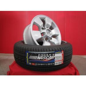 トヨタ 215系ハイラックスサーフ純正中古 16x7J+30 6H-139.7&GY EAGLE ♯1 NASCAR 215/65R16 18年製造 新品4本 200系ハイエース 流用に|tread-tire2011