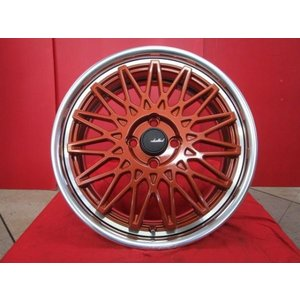 AME SHALLEN OLDSCHOOL STYLE MESH 17x6.5J+45 4H-100 新品4本セット アクア ロードスター コンパクトカー等に|tread-tire2011