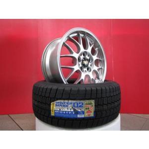 BBS RG-R RG718 17x8.0 5H112 +35 中古4本&DL WINTERMAXX WM02 225/45R17 16年製造 新品4本セット CLKクラス ゴルフ ザ・ビートル 等に|tread-tire2011