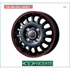 新品ホイール・4本 送料無料 ウェッズ VICENTE-04 CA・EV14X4.5+50 4H PCD100 スズキ DA17エブリィ/ワゴン専用 tread-tire2011