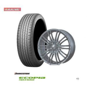 新品タイヤ&新品ホイール・4本 送料無料 ブリヂストン エコピアNH100 195/65R15 91H+ホイール(ウェルバ アグーロ)プリウス、アリオンなど|tread-tire2011
