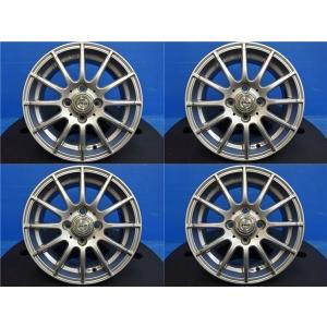 【中古ホイール4本セット♪】ジョーカー 14インチ5.5J+42 4H100 ヴィッツ パッソ キューブ ノート フィットなどに♪|tread-tire2011