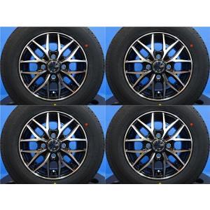 軽トラ・軽バン♪【新品タイヤホイール4本♪】VENES FS01 12インチ+ダンロップ DV-01【145R12 6PR】2019年製 N-VAN ハイゼット エブリイ tread-tire2011