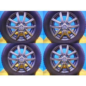 【送料無料】モコ、ライフ、MRワゴン、アルト、eKスポーツなどに【中古スタッドレス4本アルミ付】ブリヂストンブリザックREVOGZ 155/65R13 155/65-13 tread-tire2011
