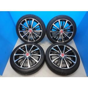 新品 165/50R16 タイヤ付き! 中古美品 バーンズテック TS3-BP 16-5J+45 4穴 PCD100 & 新品 グッドイヤー イーグル LS2000HBII 軽カー|tread-tire2011