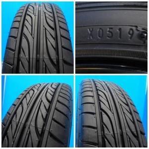 新品 165/50R16 タイヤ付き! 中古美品 バーンズテック TS3-BP 16-5J+45 4穴 PCD100 & 新品 グッドイヤー イーグル LS2000HBII 軽カー|tread-tire2011|06