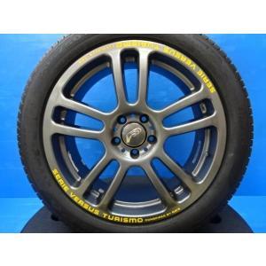【中古】ホイール【新品】夏タイヤ 4本セット♪レイズ ベルサスツーリズモ スパーダ 17インチ+ピレリ P6  205/50R17 93V XL tread-tire2011