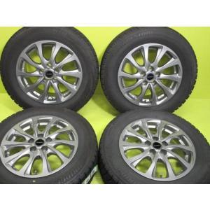 バルミナ TR10 6.5J-15 +40 100 5H ダークシルバー ブリヂストン ブリザック VRX 195/65R15 アリオン ウィッシュプリウス 中古スタッドレスセット|tread-tire2011