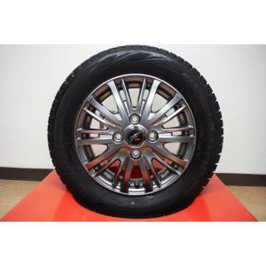 【代引き不可】国産スタッドレスタイヤ付! ウェッズファングTS10&ブリヂストンブリザックレボGZ 155/65R13 73Q ムーヴ ワゴンR 【千葉】|tread-tire2011