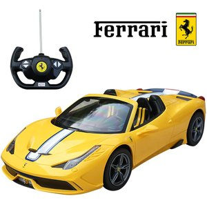 458スペチアーレA 1/14 RC フェラーリ正規ライセンス品 ラジコン イエロー ミニカー  …|treasure-com