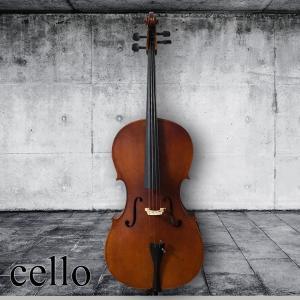 チェロ 初心者入門5点セット 本体 弓 松脂 駒 ケース cello