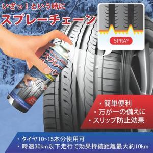 スプレーチェーン タイヤに直接吹き付けるだけ スリップ防止|treasure-com