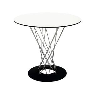 イサムノグチ サイクロンテーブル ガラス天板 直径80cm 丸テーブル ダイニングテーブル ナイトテーブル サイドテーブル isamu noguchiの写真