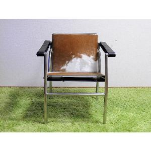 ル・コルビジェ/LC1 ポニー スリングチェア/ブラウン×ホワイト/最高級ポニー仕様 定価198000円 新品 Le Corbusier Sling Chair Pony|treasure-com