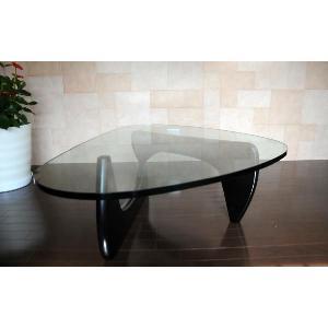 イサムノグチ/コーヒーテーブル/強化ガラス19mm×ブラックウッド/高品質デザイナーズテーブル 新品 coffee table Isamu Noguchi|treasure-com